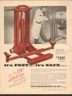 auto specialties mfg co 1955 fast safe ausco hydraulic lift vintage ad