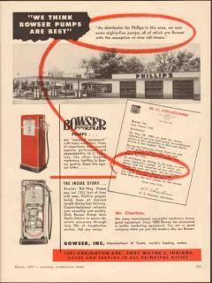 bowser inc 1955 h c charless san angelo tx gasoline station vintage ad