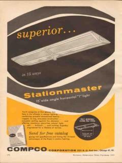 compco corp 1955 stationmaster service station lighting vintage ad