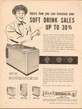ideal dispenser company 1955 increase soft drink sales vintage ad