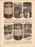 International Lubricant Corp 1955 Vintage Ad Inlucite Operating Costs