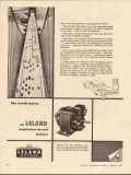 leland electric company 1955 gasoline pumped by hand motors vintage ad