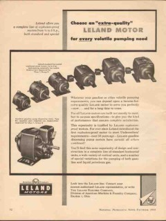 leland electric company 1955 extra quality volatile pump vintage ad