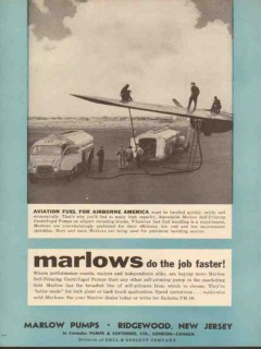 marlow pumps 1955 aviation fuel for airborne america vintage ad