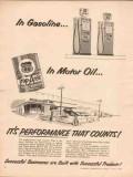 Phillips Petroleum Company 1955 Vintage Ad Gasoline Motor Oil Perform