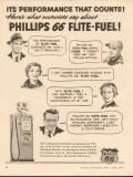 Phillips Petroleum Company 1955 Vintage Ad Gasoline Performance Counts