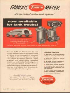 Tokheim Corp 1955 Vintage Ad Gasoline Tank Truck Meter Now Available