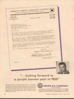 American Liberty Marketing Company 1955 Vintage Ad Frank J Jurisich
