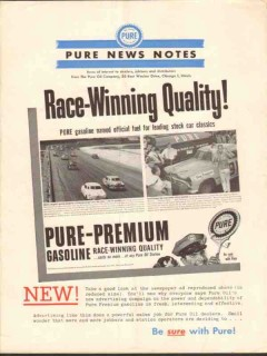 Pure Oil Company 1952 Vintage Ad Gasoline Race-Winning Quality