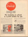 coca cola 1952 invitation to refresh profit builder for you vintage ad