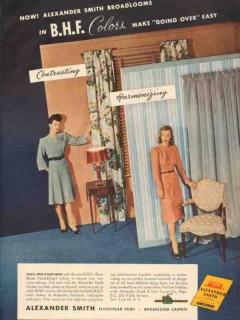 alexander smith carpet company 1946 broadloom bhf colors vintage ad