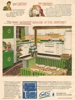 american gas association 1946 work kitchen of the century vintage ad
