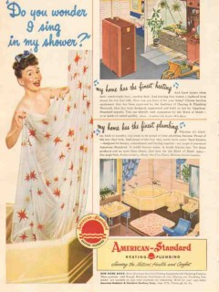 american radiator standard sanitary co 1946 sing in shower vintage ad