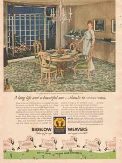 bigelow-sanford carpet co 1946 bigelow weavers beauvais vintage ad