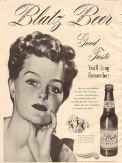 blatz brewing co 1946 good taste youll long remember beer vintage ad