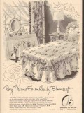 bloomcraft 1946 rosy dream ensemble everglaze chintz fabric vintage ad