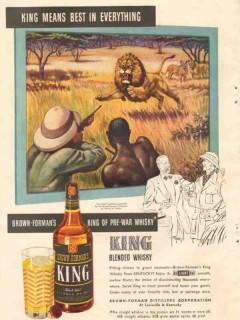 brown-forman distillers company 1946 king means best vintage ad