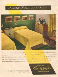 cabin crafts inc 1946 needletuft textures catch sunshine vintage ad