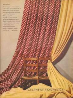 celanese corporation america 1946 multicord modern fabric vintage ad