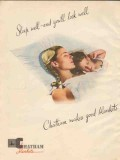 chatham mfg company 1946 sleep well youll look well blanket vintage ad