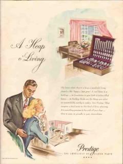 home decorators inc 1946 heap living prestige silver plate vintage ad