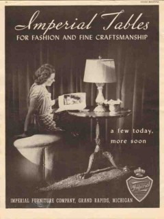 imperial furniture company 1946 fashion craftsmen tables vintage ad