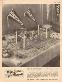 imperial glass corp 1946 high score candlewick crystal vintage ad