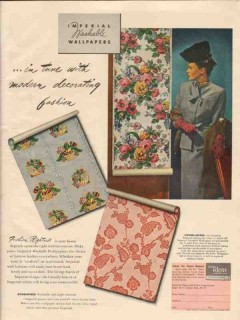 imperial paper color corp 1946 modern decorating fashion vintage ad