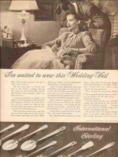 international silver company 1946 waited wear wedding veil vintage ad