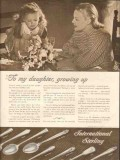 international silver company 1946 to my daughter growing up vintage ad