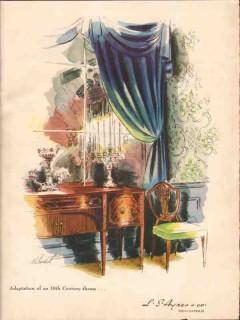 l s ayers company 1946 adaption 18 century theme furniture vintage ad