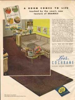 lees-cochrane co 1946 room comes to life texture bramble vintage ad