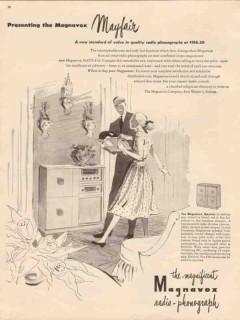 magnavox company 1946 presenting mayfair radio phonograph vintage ad
