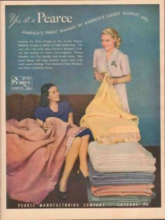 pearce mfg company 1946 oldest mill americas finest blanket vintage ad
