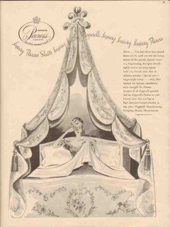 pepperell mfg company 1946 percales luxury peeress sheets vintage ad
