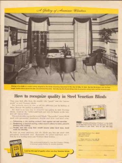 acme steel company 1947 american windows venetian blinds vintage ad