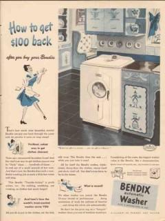bendix home appliances inc 1947 to get back washing machine vintage ad