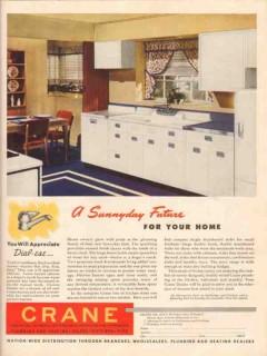 crane company 1947 sunnyday future for your home kitchen vintage ad