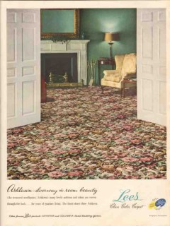 lees products co 1947 ashlawn doorway room beauty carpets vintage ad