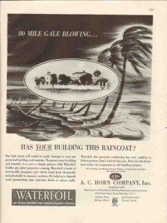 a c horn company 1946 building raincoat waterfoil coating vintage ad