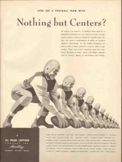 al paul lefton company 1946 nothing but centers advertising vintage ad