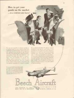 beech aircraft corp 1946 get goods on market beechcraft vintage ad