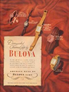 bulova watch company 1946 distinguished christmas gifts vintage ad