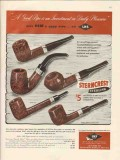 l h stern inc 1946 daily pleasure sterncrest smoking pipes vintage ad