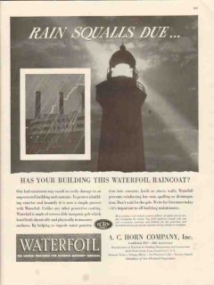a c horn company 1946 rain squalls due waterfoil coating vintage ad