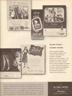 al paul lefton company 1946 selling goods winning friends vintage ad