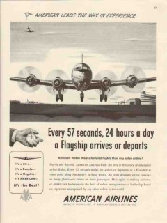 american airlines inc 1946 leads way in experience flagship vintage ad