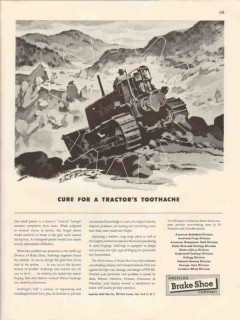 american brake shoe company 1946 cure tractors toothache vintage ad