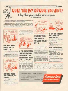 america fore insurance group 1946 quiz you is aint game vintage ad