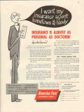 america fore insurance group 1946 agent hometown handy vintage ad
